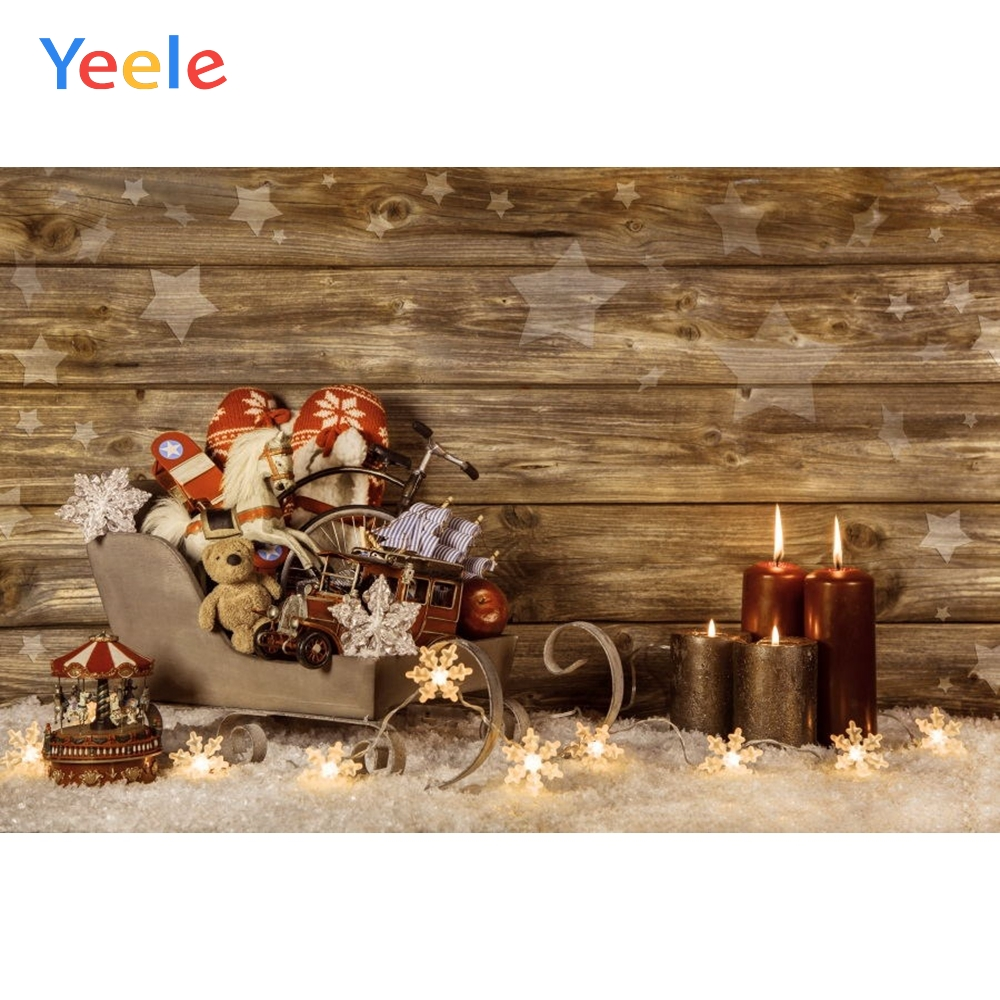 Yeele Christmas Photography Backdrops Wood Board Toy Doll Children Kids Baby Birthday Photographic Background For Photo Studio in Background from Consumer Electronics
