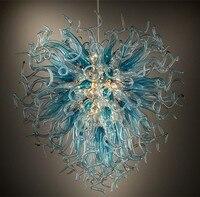 Уникальная люстра освещение меньшего размера музей дома лампы ручной выдувного стекла люстра в американском стиле