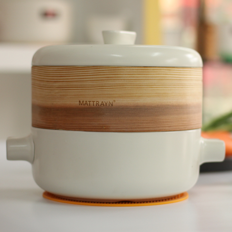 Haute température en céramique pot marmite casserole vapeur de santé de la bouillie marmite casserole envoyer vapeur
