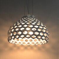 40cm Modern White Brief Individuality Honeycomb E27 Pendant Light Lamp Lighting Dining Room Droplight Free Shipping