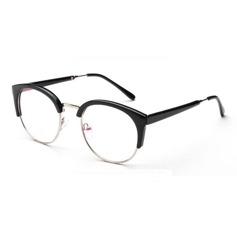 Reka Bentuk Kaca Gaya Bintang Superstar Terkini Wanita Cermin mata Optik Kaca Komputer Rangka Frame Oculos