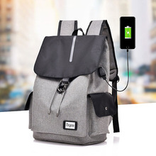 DINGXINYIZU Usb Charging Large Capacity Canvas Waterproof Men's Laptop Backpack School Teenage Travel Backpack Casual Portable balang brand business large capacity backpack for 15 6inch laptop unisex waterproof casual men travel backpack with usb charging