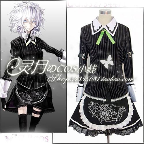 Custom Size Touhou Project Cosplay Izayoi Sakuya Cosplay Anime Maid Costume Dress anime touhou project flandre scarlet cosplay costume custom any size halloween