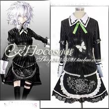 Tamaño personalizado Cosplay Touhou Project Izayoi Sakuya Cosplay del Anime Maid disfraz