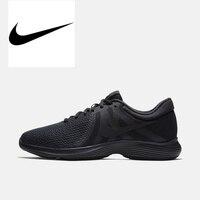 Оригинальные аутентичные NIKE REVOLUTION 4 спортивные кроссовки Для мужчин спортивные 908988 002 прогулочная бег удобные прочные