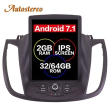 Android 7 Tesla style font b Car b font No DVD Player GPS Navigation For Ford