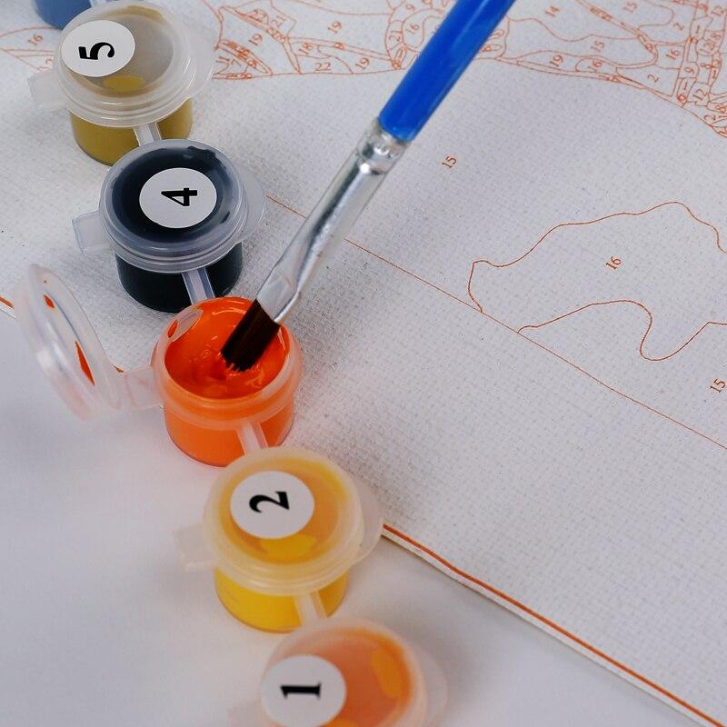 DIY colorido globo pintura por números enmarcado pintura al óleo ...