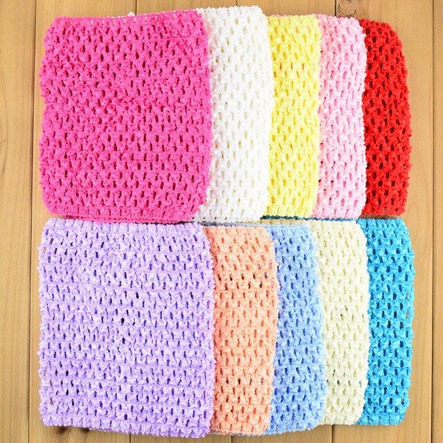 30 unids/lote Popular 6 pulgadas elástico Crochet Tutu Tops punto ...