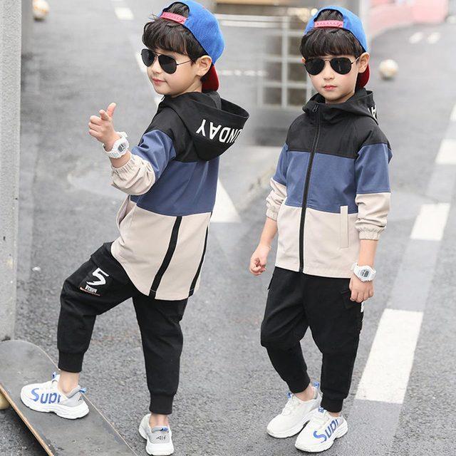 2019 yeni çocuk Boys giyim seti çocuk Tops Hoodie ceketler + pantolon seti 4 6 8 10 12 14 15 yıl çocuk giyim erkek rahat takım elbise