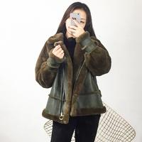 2018 New Fashion Winter Leather Jacket Women Fur Coat Bomber Motorcycle Cool Outerwear Women Warm Casual Leather Coats