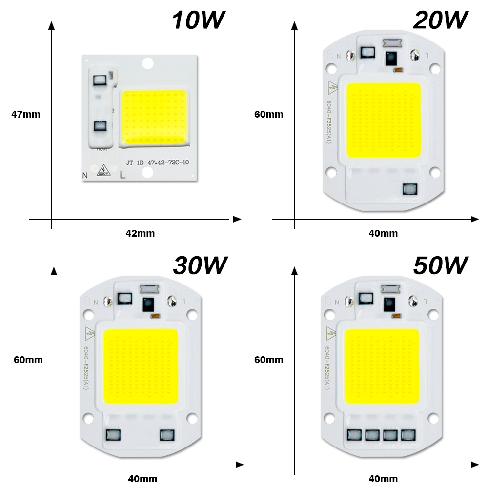 Image 3 - LED COB Chip Diode AC 220V 3 9W 10W 20W 30W 50W For Rectangular Light Matrix Lamp Ampoule Spotlight Y27 Y32 Not Need Driver Led-in LED Chips from Lights & Lighting