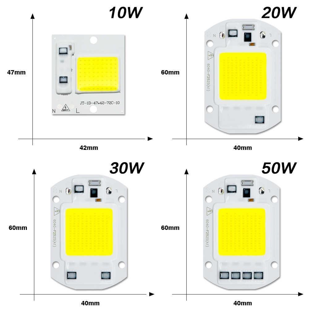 LED COB Chip diyot AC 220V 3-9W 10W 20W 30W 50W dikdörtgen ışık matris lamba ampul spot Y27 Y32 gerek yok sürücü Led
