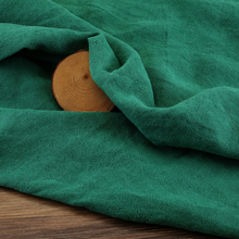 High-grade 100% Linen green Handmade Ethnic style Fabric For Women Dress Robe 132cm Wide Fashion cloth DIY Sewing 18 New SALE