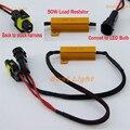 2 pcs H7 H8 H9 H11 9005 HB3 9006 HB4 LED Fog HID DRL Light Bulb Decoder Resistor erro Canbus livre Wire Harness adaptador de 50 w