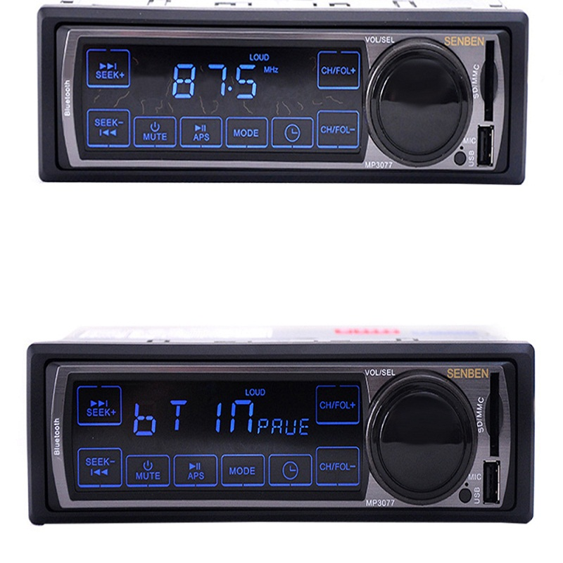 12v car stereo fm car radio bluetooth mp3 audio player support phone usb sd car radio in dash 1. Black Bedroom Furniture Sets. Home Design Ideas