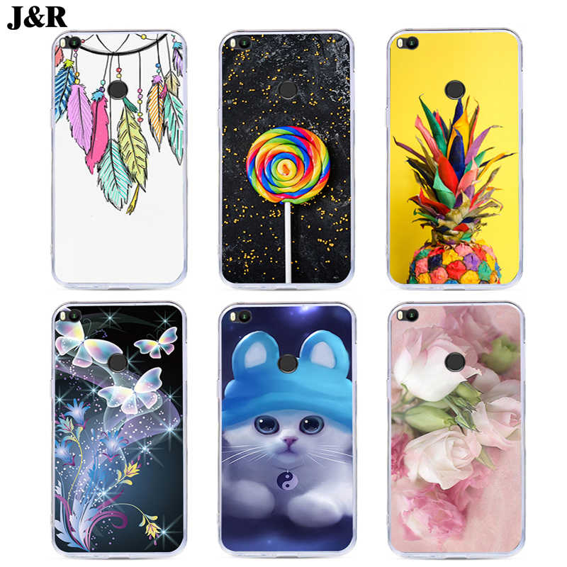 J&R Colorful Printing Phone Case For Xiaomi Mi Max 2 Silicone Cover Cute Animal For Xiaomi Mimax2 Soft TPU Cases Flower Plants