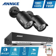 ANNKE 4CH 960H HDMI CCTV System 4 channels DVR with 2pcs 720P IR Outdoor Surveillance Camera Home Security System Email Alert