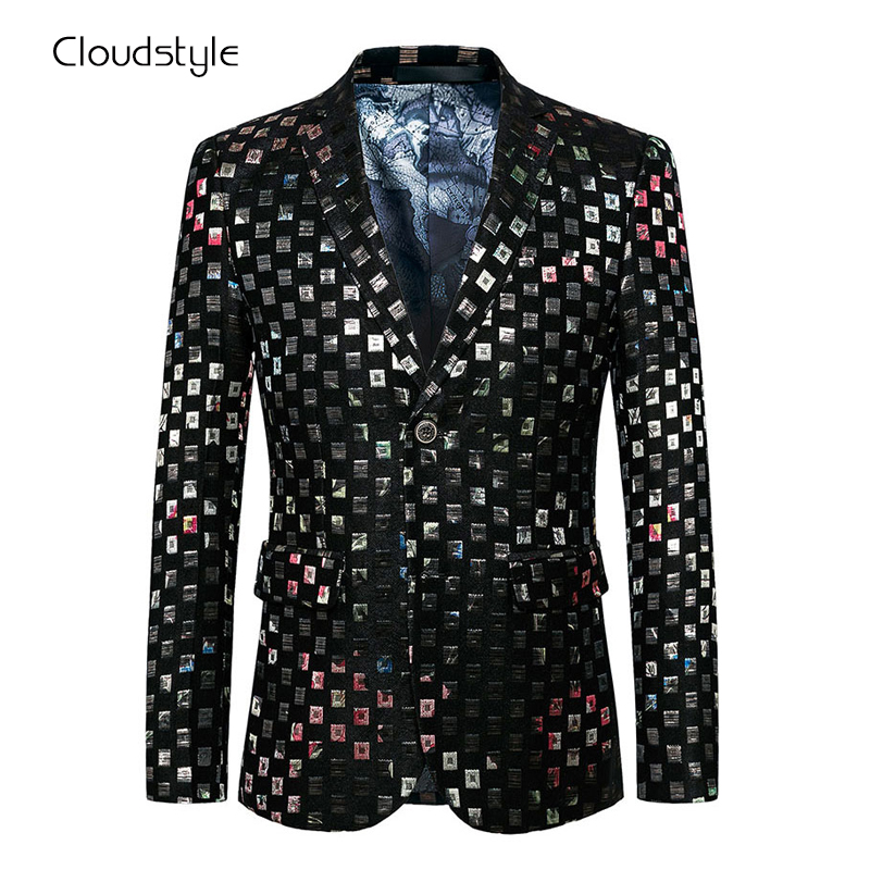 Cloudstyle 2017 Male Blazer Men Casual Slim Fit Jackets