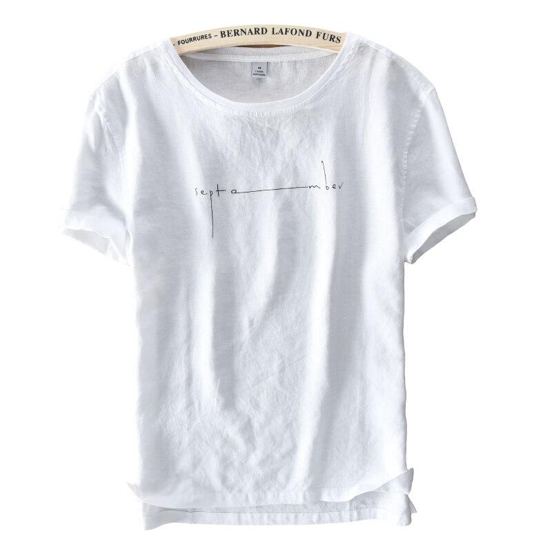 Summer brand linen t shirt men short sleeve t shirt men for Mens summer linen shirts