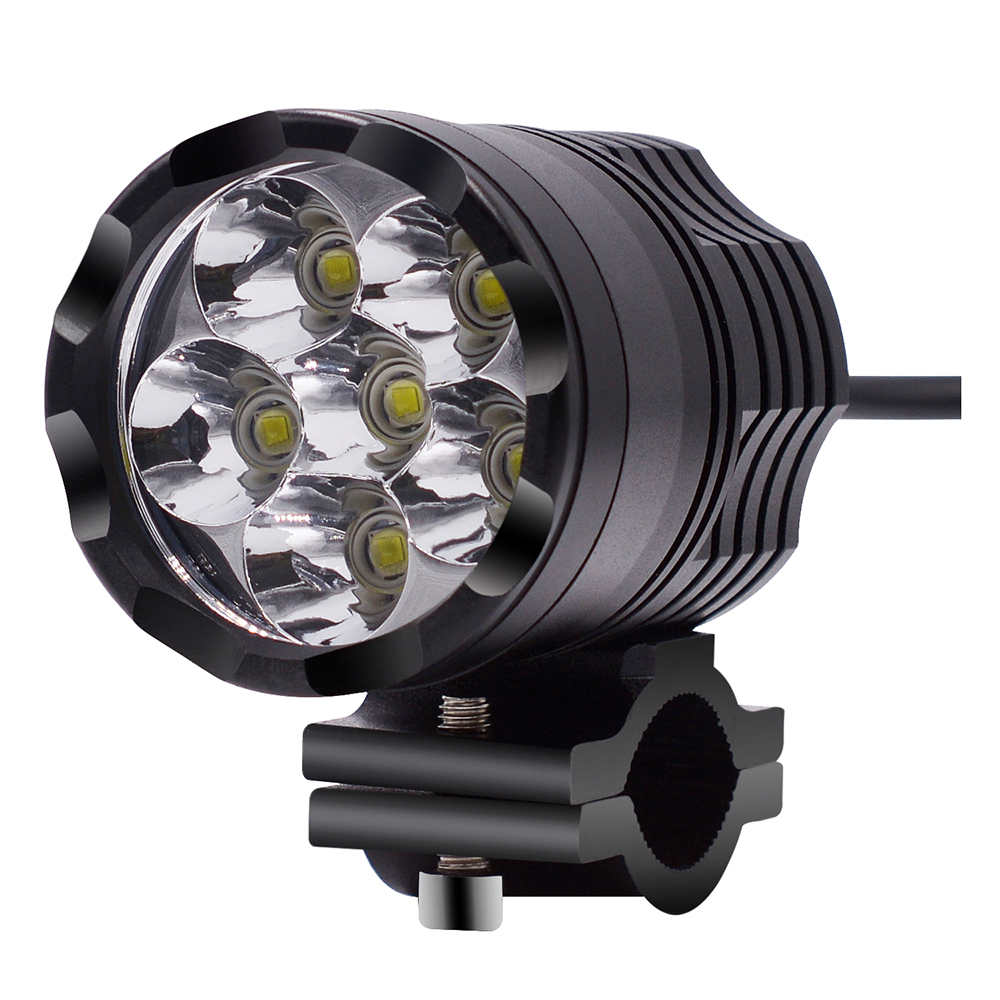 External Constantly Bright Motorcycle Light 9 48v Aluminum Alloy Headlight 30w Constantly Bright Lamp Universal 12v