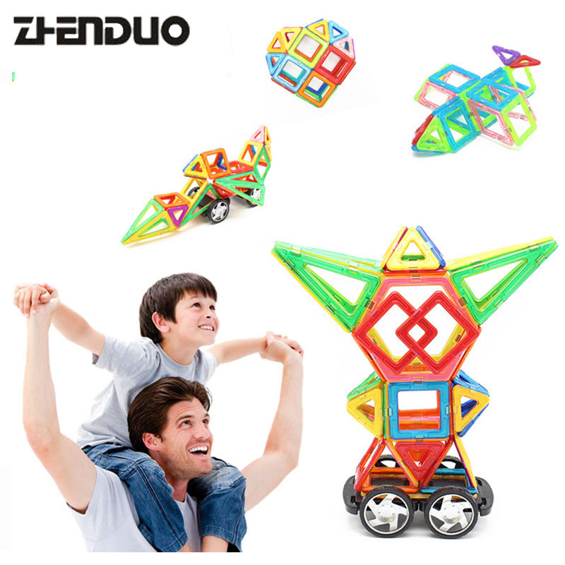 Zhenduo 62pcs Magnetic Construction Models Building Blocks DIY 3D Mini Magnetic Designer Learning Educational Bricks Kids Toys mini 136pcs set magnetic construction magformers models building blocks toys diy 3d magnetic bricks kids toys