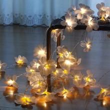 220V 5m 28led frangipani LED String Lights Аккумулятор цветочные Fairy light, Event Party украшение гирлянды, украшение спальни