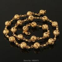 Уникальный Золотой шар Золотая цепь цвет модные украшения для женщин подарок Новые Модные чокеры ожерелья Бесплатная доставка