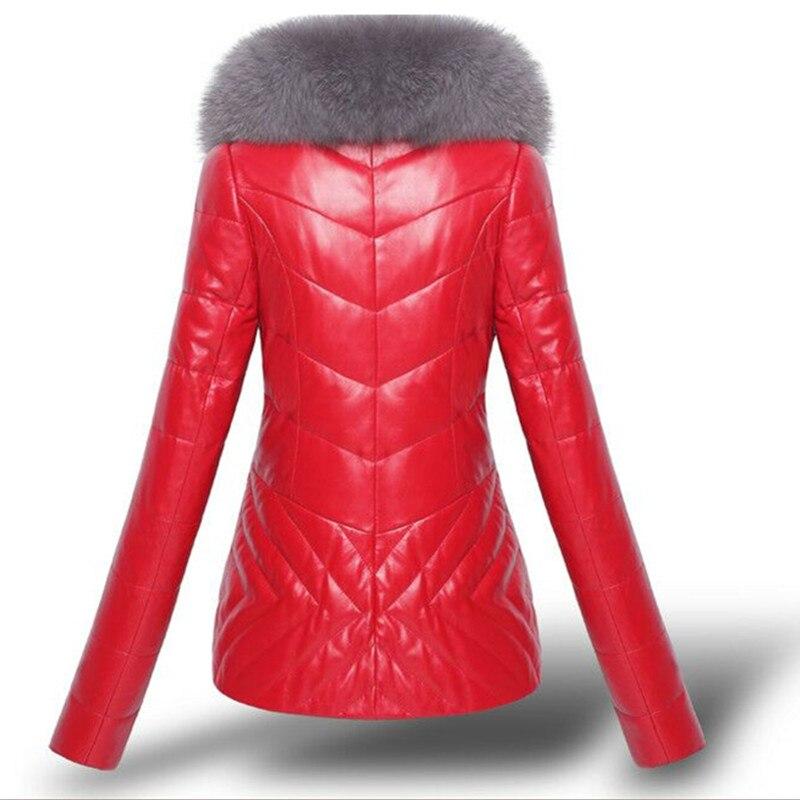 2019 Chaud Vers En Cuir Mode gray Épaississent Femmes Lady Red Pu Mince Survêtement Longues Coton Des Manteau Faux À Manches Bas Veste Court black De Hiver Le rwqR7ztr