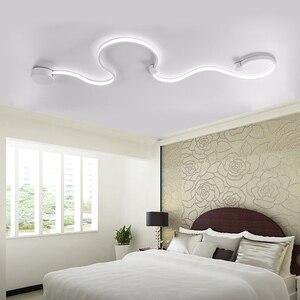 Image 4 - מודרני קיר שינה מחקר סלון מרפסת חדר אקריליק בית דקו לבן שחור ברזל גוף פמוט led אורות גופי