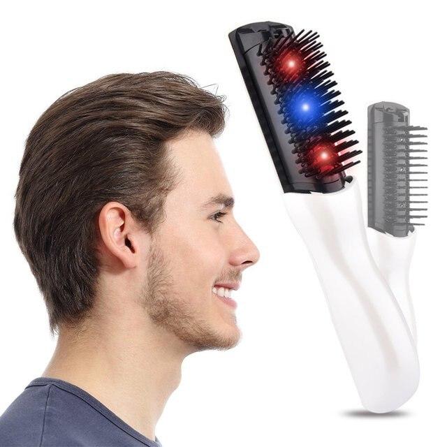 Peine de tratamiento láser para detener la pérdida de cabello promueve el crecimiento del cabello nuevo vibrador de terapia de pérdida de cabello para hombres y mujeres