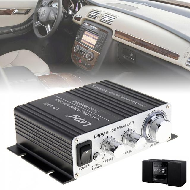 Special Offers Lepy V3 Mini 20W 12V HiFi Stereo Auto Car Power Amplifier Motorcycle Boat Vehicle Amp for MP3 MP4 iPod