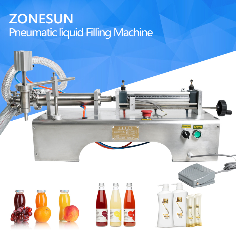 5-100ml Horizontal Pneumatic liquid Filling Machine, e liquid oil filling machine, milk filling machine, drink filling machine цена