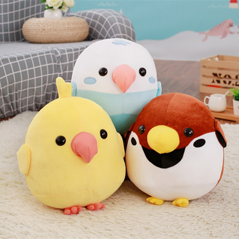 30CM Cute Bird and Parrot Plush Toys Stuffed Animal Cartoon Dolls Kids Baby Toy Children's Gift Birthday Present 3pcs set despicable me minion toys 3d minion plush toys baby stuffed plush dolls 18cm jorge dave kids plush toy ty29