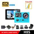 EKEN H8S A12 4 K WiFi Ir Underwater Esporte Action Camera Ambarella cam 1080 p tela dupla pro sj dv + opção carregador de bateria cartão tf