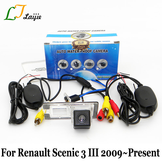 Laijie Wireless Car Rearview Camera For Renault Grand Scenic 3 III JZ 2009~2016 / HD CCD Night Vision Auto Parking Camera / NTSC
