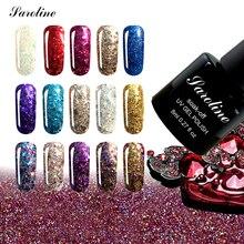 Saroline New Arrival 3D Diamond Glitter UV Soak off lucky Gel Polish Glitter Nail Gel Price Gel Nail Art Foil Adhesive cheap