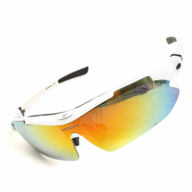 ดวงจันทร์ 5 เลนส์กีฬาจักรยาน 2019 แว่นตากันแดด Polarized จักรยานเสือภูเขาขี่ตา Unisex แว่นตา lentes ciclismo a50