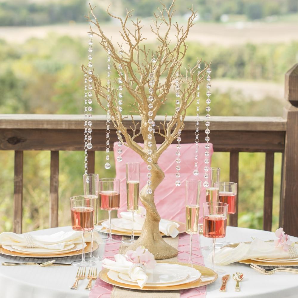 Aliexpress Buy 30 Glittered Manzanita Centerpiece Tree For