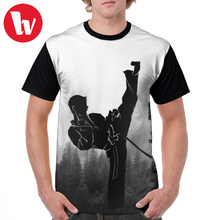 Taekwondo T Shirt Korean High Kick T-Shirt Mens Awesome Graphic Tee Beach XXX 100 Percent Polyester Tshirt