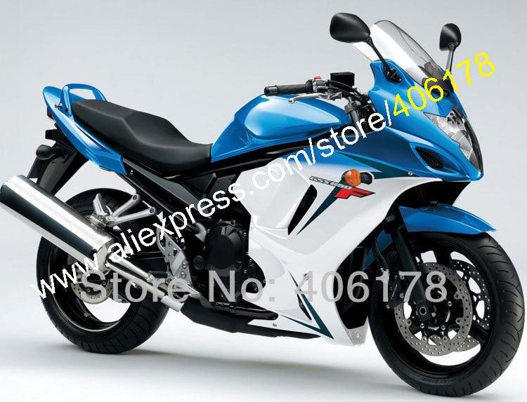 Hot Sales,For SUZUKI GSX650F GSXF 650 Blue white 08 09 10 11 12 13 GSX 650F GSXF650 2008 2009 2010 2011 2012 2013 Fairings
