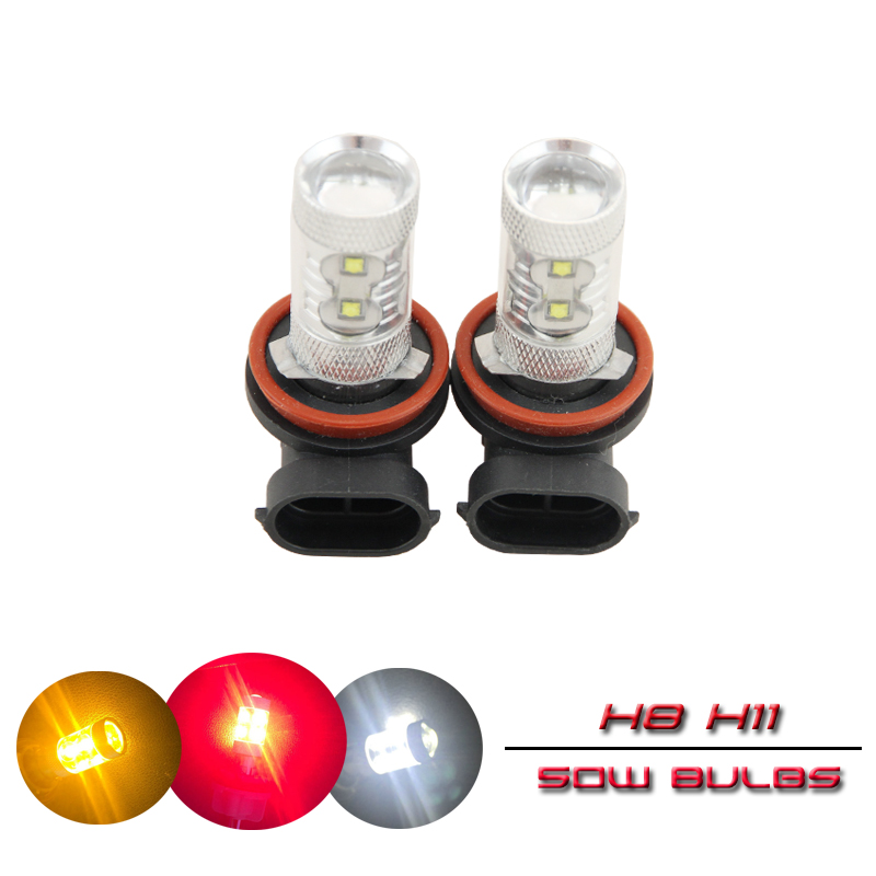 2x Cree Chips Led 50W H8 <font><b>PGJ19</b></font>-<font><b>1</b></font>/ H11 <font><b>PGJ19</b></font>-5 Bulb Fog Light Replacement Driving Daylights Car Styling Auto Car H8 Lights image