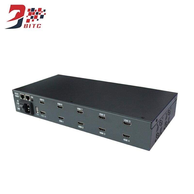 SZBITC 9 Channel Video Wall Processor 2x2 2x3 3x3 2x4 4x2 1080P HDMI USB RS232 Compatible IR Controller