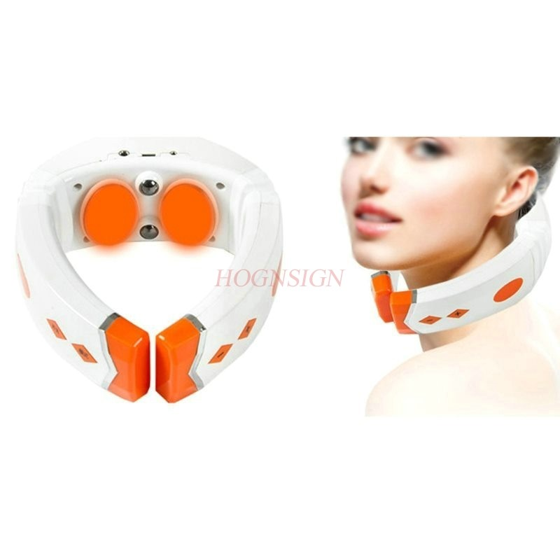 Multifunctional Cervical Massager Neck Waist Shoulder Household Pillow Electric Kneading Body Physiotherapy Neck Massager rechargeable 4 mode neck shoulder massager w music pink