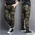 Retail autumn and Spring boy camouflage trousers casual pants big virgin child webbing cotton long pants kids 3-14 years
