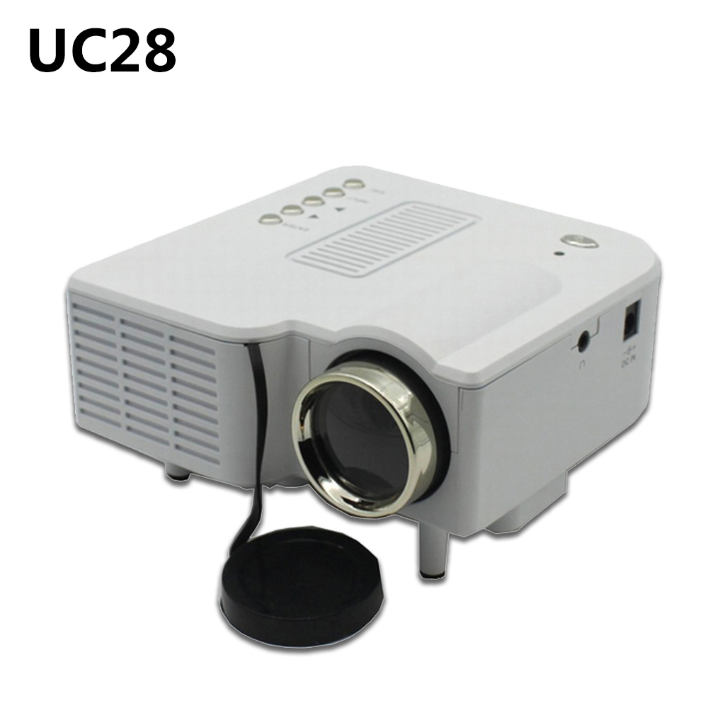 Popular E03 Tv Projector Mini Led Projector Home Theater: Popular UC28 Projector Portable Design Support VGA/USB/SD