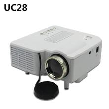 Popular Diseño Portátil UC28 Proyector Soporte VGA/USB/SD/AV/HDMI 1080 P LED Mini Para su Familia