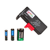 BT 168 AA/AAA/C/D/9V/1.5V batteries Universal Button Cell Battery Colour Coded Meter Indicate Volt Tester Checker BT168 Battery Testers Tools -