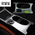 Control armrest box water cup panel decorative cover trim Car styling for Mercedes Benz GLA CLA A class Refit Interior
