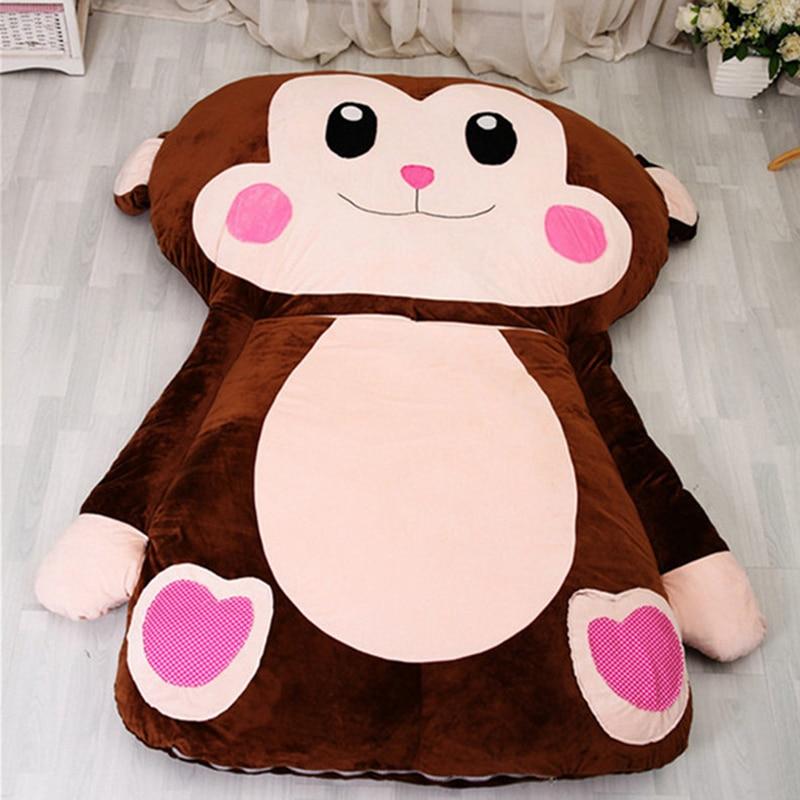 fancytrader 230cm x 170cm huge cartoon monkey sleeping bag plush soft animal beanbag bed tatami. Black Bedroom Furniture Sets. Home Design Ideas