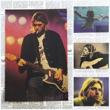 Vintage Poster Nirvana Kurt Cobain dormitory Kraft Rock Orchestra decorative painting Poster retro poster /2025